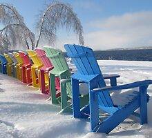 Winter Adirondack Chairs  by Creationsofhope