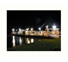 Mannum Ferry Art Print