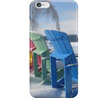 Winter Adirondack Chairs  iPhone Case/Skin