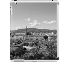 black and white Florence landscape iPad Case/Skin