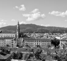 black and white Florence landscape Sticker