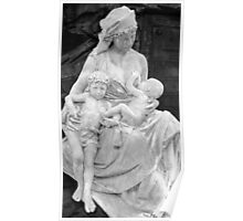 Mother and Children Statue, La Recoleta Cemetery, Buenos Aires, Argentina Poster