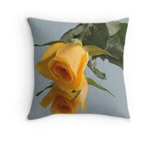 Yellow Rose on Glass Throw Pillow