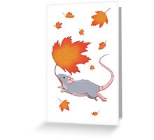 Autumn Leaves (blue) Greeting Card