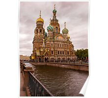 The Church on Spilled Blood, St Petersburg, Russia Poster