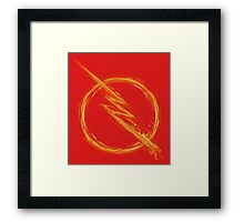 reverse speed lighting Framed Print