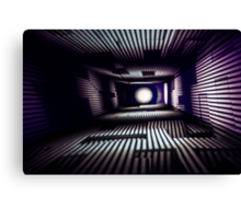 Abstract Light Painting in Purple and White Canvas Print