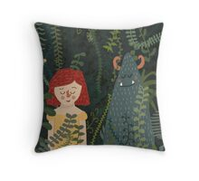 the jungle Throw Pillow