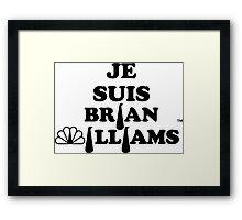 Je Suis Brian Williams Framed Print
