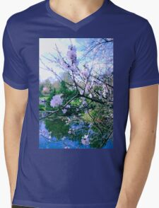 May Sakura Mens V-Neck T-Shirt