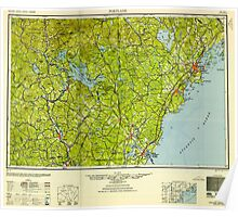 Maine USGS Historical Map Portland 807050 1949 250000 Poster