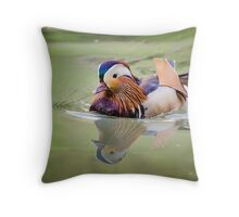 Mandarin Duck, male Throw Pillow