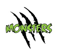 MONSTERS logo green letters by lakesolmusic