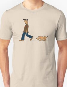Dude walkin' the dude dog T-Shirt