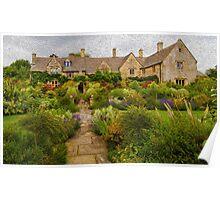 English Garden, Chipping Camden, England Poster