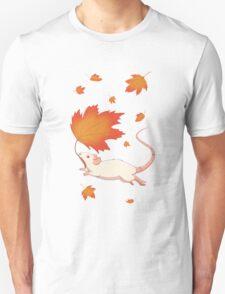 Autumn Leaves (white) Unisex T-Shirt
