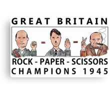 Rock Paper Scissors Champions Canvas Print