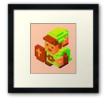 3D Link Framed Print
