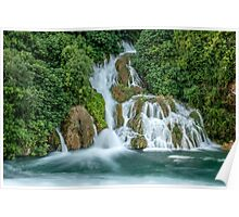 Waterfall, Krka National Park, Central Dalmatia, Croatia Poster