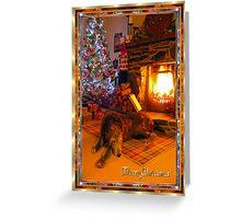 enchanted dreamin o christmas dinner Greeting Card