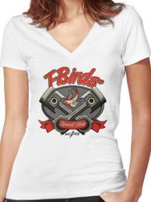 T-Birds' Speed Shop Women's Fitted V-Neck T-Shirt