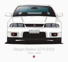 Nissan Skyline GT-R (R33) Kids Tee