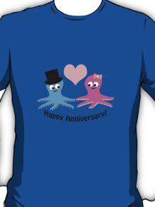 Happy Anniversary! Cute Octopus Couple  T-Shirt