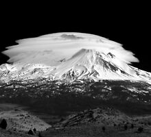 Lenticular Clouds over Mt Shasta, Northern California by acaldwell