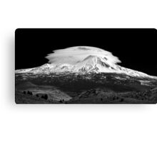 Lenticular Clouds over Mt Shasta, Northern California Canvas Print