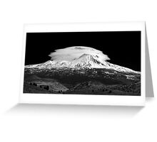 Lenticular Clouds over Mt Shasta, Northern California Greeting Card