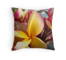 Frangipanis Throw Pillow