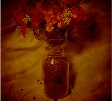 Coffee Beans and Flowers by MzScarlett