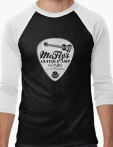 McFly's Repairs - White Men's Baseball ¾ T-Shirt