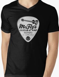McFly's Repairs - White Mens V-Neck T-Shirt