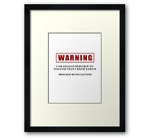 Warning - I Know Karate Framed Print