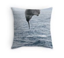 Jumping Dolphin II Throw Pillow