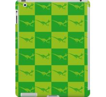 Dinos in Green Squared iPad Case/Skin