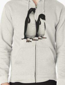 Ad,Lie Penguins Zipped Hoodie