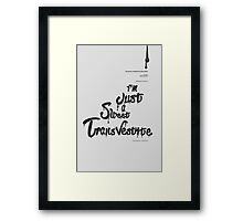 Rocky Horror Show *Type  Framed Print