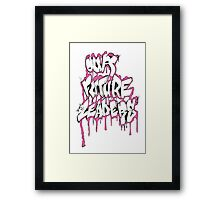 Our Future Leaders Graffiti Pink Framed Print