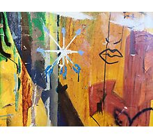 The Wall Of Graffiti And Feelings Photographic Print