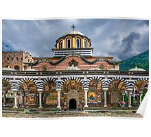 Front of Rila Monastery, Rila Mountains, Bulgaria Poster