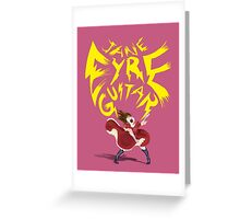 Jane Eyre Guitar Greeting Card