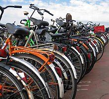 Amsterdam Bikes. by Andrew Ferguson