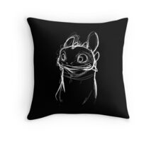 Toothlessketch Throw Pillow