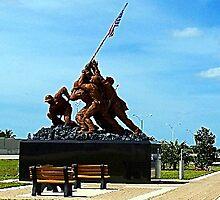 Iwo Jima statue  by Virginia N. Fred