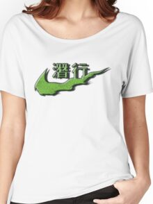Chinese Sneak Green Snake Skin Women's Relaxed Fit T-Shirt