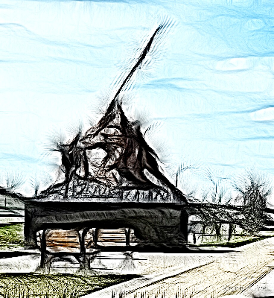 Iwo Jima (Fractalius) by Virginia N. Fred