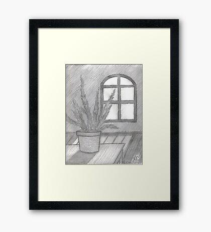 FERN IN THE SUNLIGHT IMPOSED Framed Print