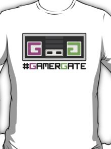 Pink and Green #GamerGate NES Controller T-Shirt